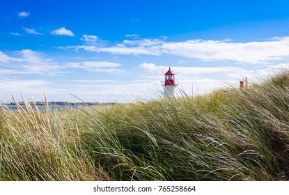 Lighthouse near Kampen on the island of Sylt, Germany