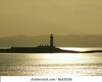 Lighthouse near Mull in Western Scotland