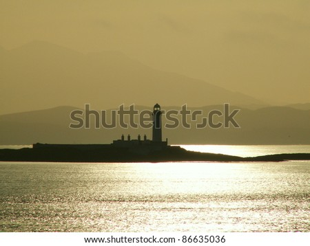 Lighthouse near Mull in Western Scotland