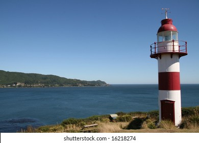 Lighthouse near Valdivia in Chile