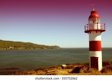 Lighthouse near Valdivia in Chile, South America