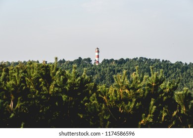 Lighthouse in Nida city, Lithuania.