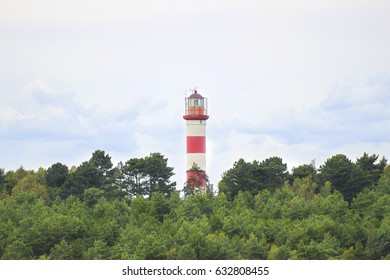 Lighthouse in Nida, Lithuania. Nida Lighthouse is located in Nida.