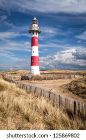 Lighthouse in Nieuwpoort. Belgium.