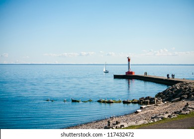 the lighthouse at the Oakville in Canada