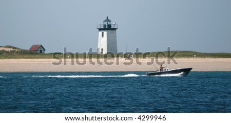 Lighthouse Off Long Point Cape Cod Stock Photo (Edit Now