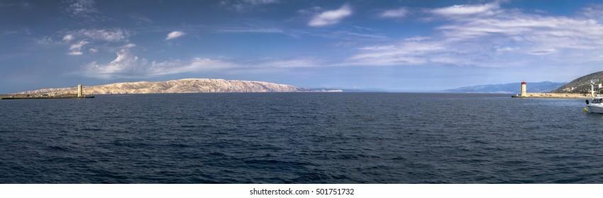Lighthouse on Adriatic sea in Croatia in Senj