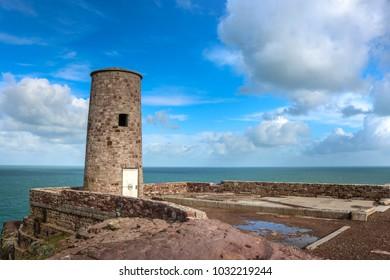 Lighthouse on the Atlantic coast.