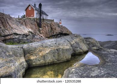 Lighthouse on the Baltic archipelago, Sweden