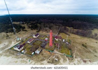 Lighthouse on Baltic sea coast , Latvia.