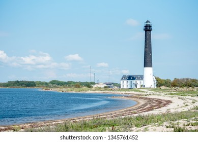 Lighthouse on the Baltic shore of Estonia. Syrve, Saaremaa