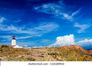 Lighthouse on the Berlangas island, Portugal