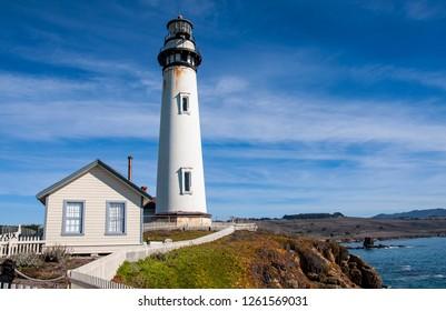 A lighthouse on the California coast