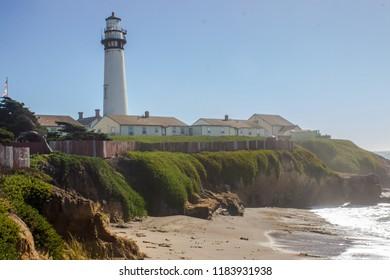 Lighthouse on the coast of California