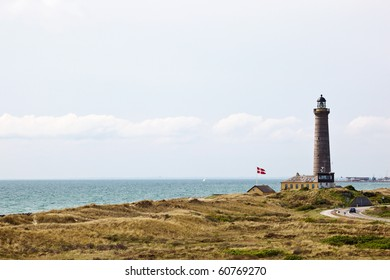 Lighthouse on the Danish coast