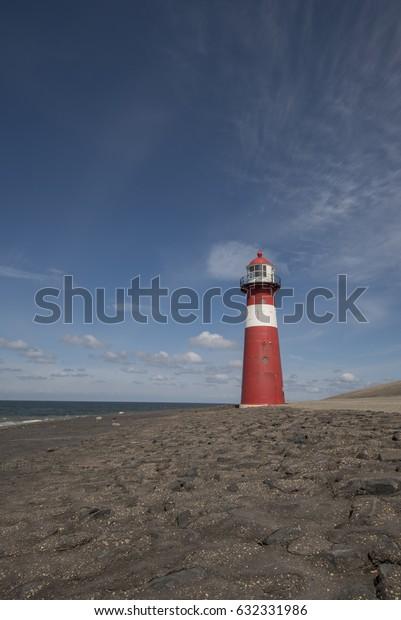 Lighthouse on a dike