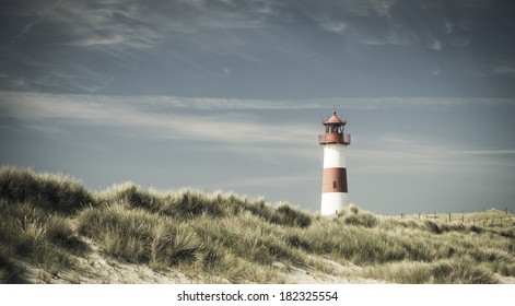 Lighthouse on dune - changed color for vintage effect.