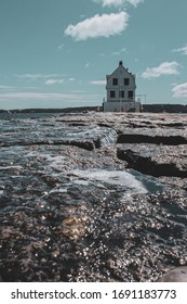 Lighthouse on the end of the rockland breakwater