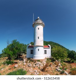 Lighthouse on Gelidonya cape in summer time