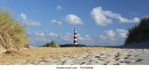 lighthouse on island Ameland