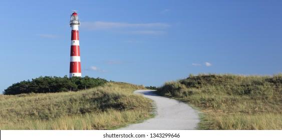 Lighthouse on island Ameland, Dutch.