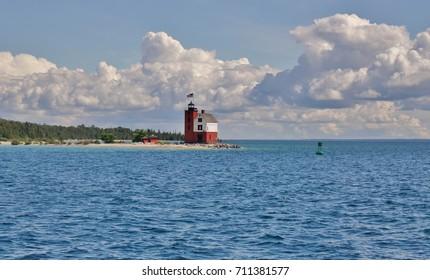 Lighthouse on a lake