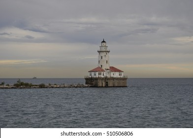 Lighthouse on Lake Michigan near Chicago