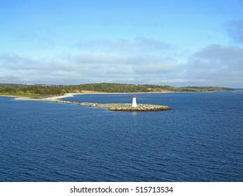 The Lighthouse on McNabs Island, Halifax, Nova Scotia, Canada