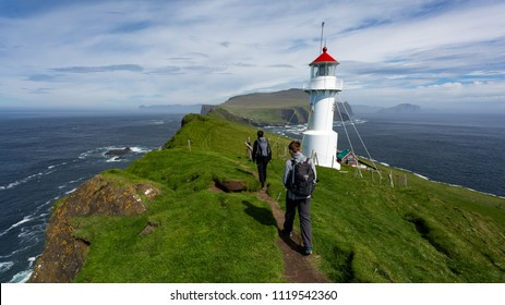 The lighthouse on Mykines island in Faroe Islands is one of the most beautiful lighthouses in the world. It attracts many tourists every year.