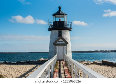 Lighthouse on the Nantucket island