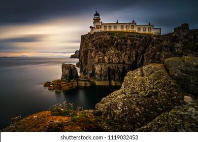 Lighthouse on Neist Point cliffs, Isle of Skye, Scotland