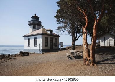 Lighthouse on Puget Sound San Juan Island Washington State