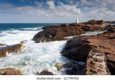 Lighthouse on rock