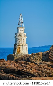 Lighthouse on the Rocky Coast of the Black Sea