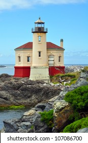 Lighthouse on the rocky pacific coast
