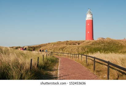 Eierland Lighthouse On Northernmost Tip Dutch Stock Photo Edit Now