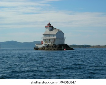 Lighthouse on tiny island