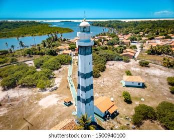 Preguiças Lighthouse (or Mandacaru Lighthouse) at Barreirinhas during trip to Lençóis Maranhenses, Brazil