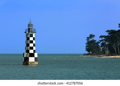 Lighthouse outside Loctudy, as Seen from Ile-Tudy, Brittany