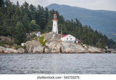 Lighthouse in Lighthouse Park, West Vancouver, British Columbia, Canada