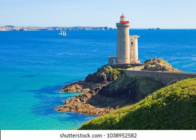 Lighthouse of petit minou, roadstead of Brest, Brittany, France
