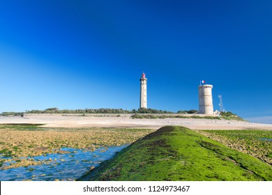 Lighthouse Phares des Baleines on island Ile de Ré at the French west coast