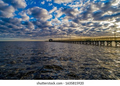 The lighthouse pier on the Mississippi Gulf Coast in Biloxi
