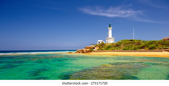 lighthouse at Point Lonsdale, Australia. Collection of the best lighthouses