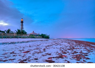 Lighthouse Point at Sanibel in Florida, this Lighthouse is an historical landmark in Sanibel.