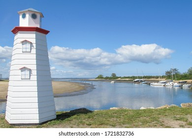 lighthouse in Port de la Hume in bassin d'Arcachon gironde Nouvelle-Aquitaine France