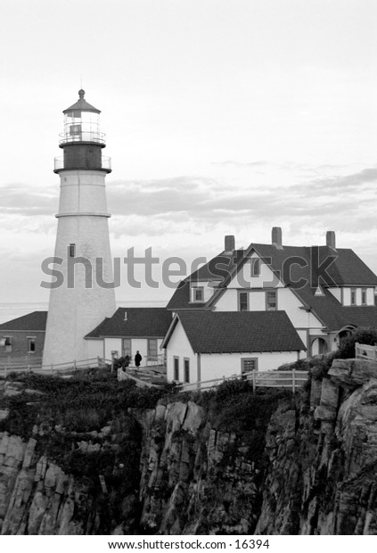 Lighthouse in Portland, Maine.