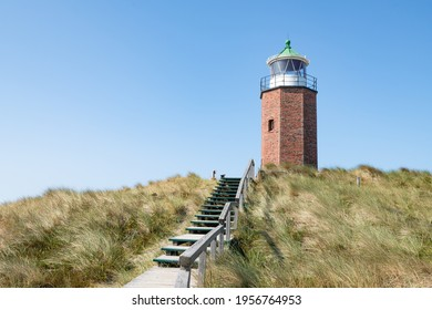 Lighthouse Quermarkenfeuer Rotes Kliff near Kampen, Sylt, Schleswig-Holstein, Germany