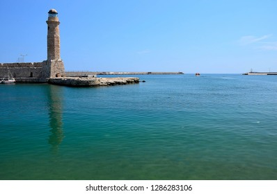 Lighthouse in Rethymno on the Crete Island