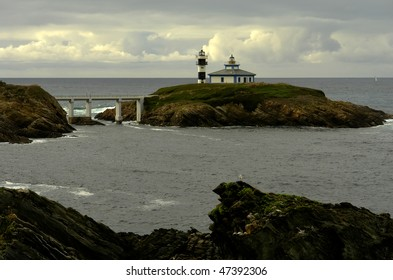 lighthouse of Ribadeo, at the coast of Asturias in the north of Spain